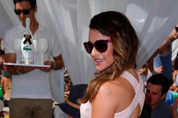 Lea Michele LACOSTE Beautiful Desert Pool Party - Day 1