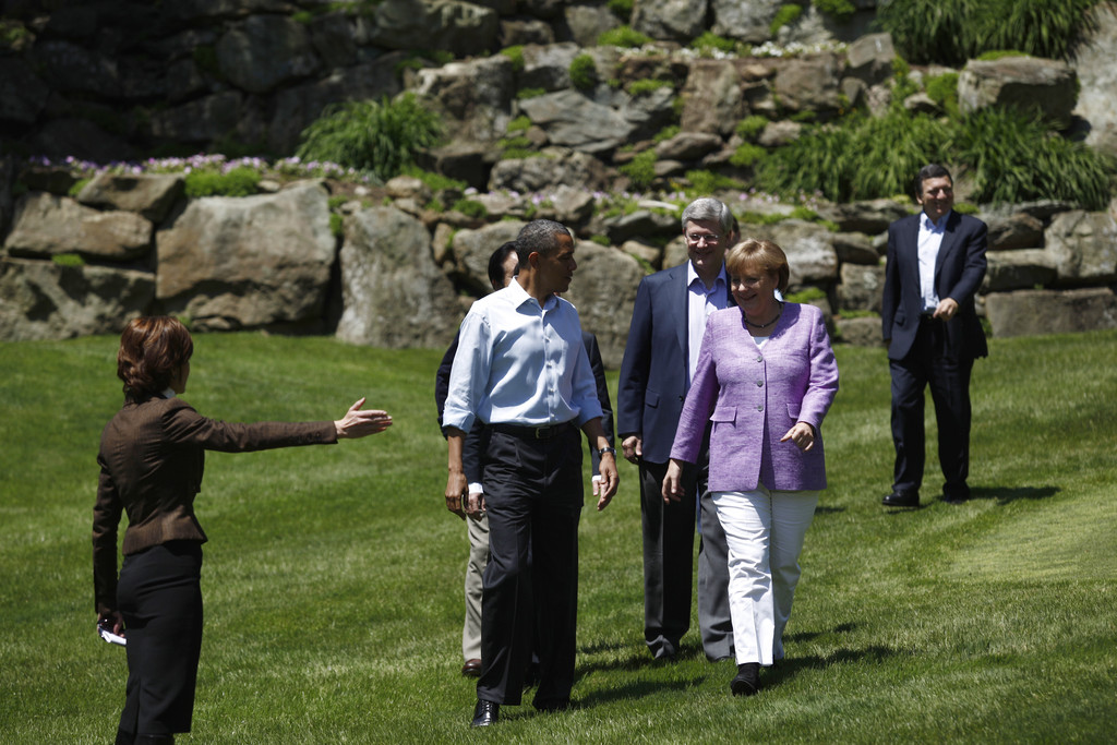 leaders commence g8 summit at camp david zimbio. Black Bedroom Furniture Sets. Home Design Ideas