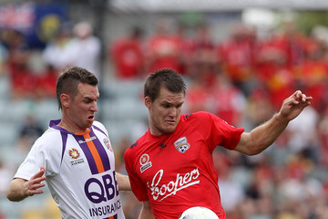Nigel Boogaard Shane Smeltz A-League Rd 17 - Adelaide v Perth
