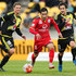 Sergio Cirio Photos - Sergio Cirio of Adelaide United makes a break from Albert Riera of the Phoenix during the round six A-League match between the Wellington Phoenix and Adelaide United at Westpac Stadium on November 13, 2015 in Wellington, New Zealand. - A-League Rd 6 - Wellington v Adelaide