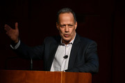 Sebastian Junger speaks onstage during Our Tribal Nature: Tribalism, Politics, And Evolution symposia by The Leakey Foundation at The Morgan Library & Museum on September 19, 2019 in New York City.
