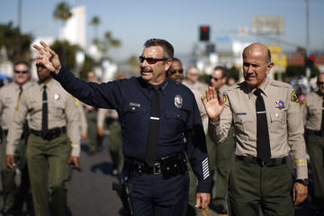 Lee Baca Annual MLK Day Parade Marches in Los Angeles