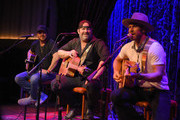 Tyler Reeve, Lee Brice and Drake White perform at Analog at the Hutton Hotel on October 1, 2018 in Nashville, Tennessee.
