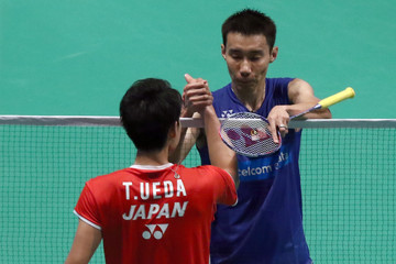 Lee Chong Wei BWF World Super Series Badminton Malaysia Open - Day Two