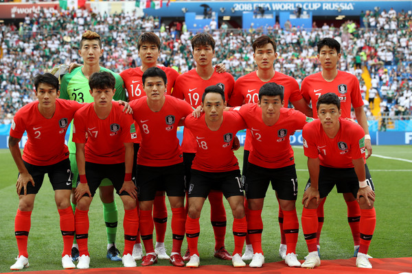 Korea Republic vs. Mexico: Group F - 2018 FIFA World Cup Russia [player,team,sports,team sport,sport venue,soccer player,ball game,social group,football player,stadium,mexico: group f - 2018 fifa world cup,match,group,team,korea republic,russia,rostov-on-don,mexico,rostov arena]