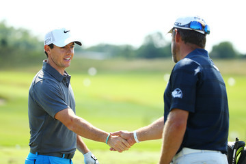 Lee Westwood Rory McIlroy PGA Championship - Preview Day 3