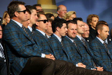 Lee Westwood Sergio Garcia 40th Ryder Cup Opening Ceremony