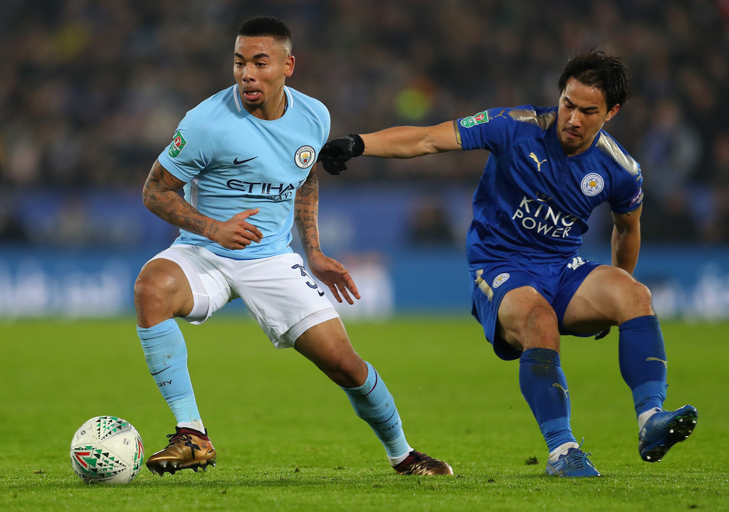 Image result for leicester vs man city carabao cup gabriel jesus