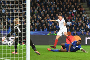 Samir Nasri of Sevilla takes a shot on goal during the UEFA Champions League Round of 16, second leg match between Leicester City and Sevilla FC at The King Power Stadium on March 14, 2017 in Leicester, United Kingdom.