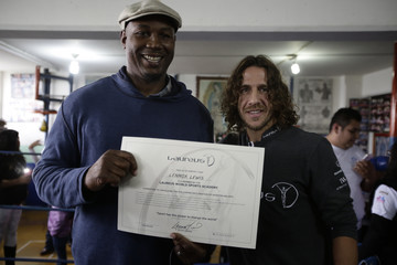 Lennox Lewis Laureus Sport for Good Mexico Project Visit
