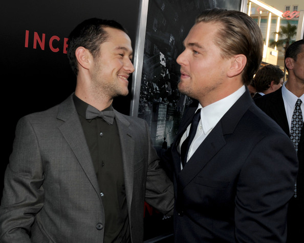 Joseph Gordon-Levitt and Leonardo DiCaprio - Premiere Of Warner Bros.