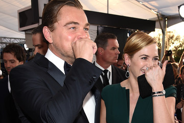 Leonardo DiCaprio Kate Winslet The 22nd Annual Screen Actors Guild Awards - Red Carpet