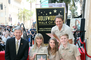 Leron Gubler Steve Irwin Honored Posthumously With Star On The Hollywood Walk Of Fame