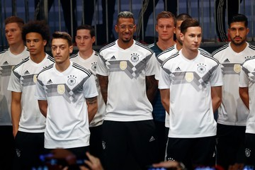 Leroy SanŽ Germany and Adidas Present the New Kit for the 2018 FIFA World Cup Russia