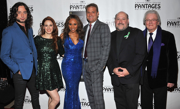 """Red Carpet Opening Night And Party - """"JEKYLL & HYDE"""" Pre-Broadway Engagement At Pantages [jekyll hyde,event,premiere,team,jeff calhoun,frank wildhorn,leslie bricusse,actors,cast members,teal wicks,pre-broadway engagement at pantages,l-r,red carpet opening night and party]"""