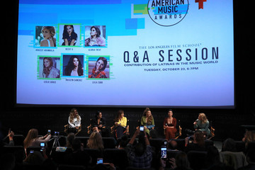 Leslie Grace Telemundo And The Los Angeles Film School Host Panel With Aracely Arambula, Becky G, Gloria Trevi, Leslie Grace, And Roselyn Sanchez