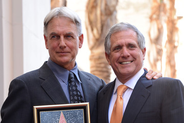 Leslie Moonves Mark Harmon Honored On The Hollywood Walk Of Fame