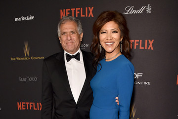 Leslie Moonves The Weinstein Company and Netflix Golden Globe Party - Red Carpet