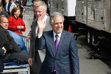 Leslie Moonves Celebrities Visit 'The Late Show With David Letterman'