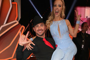 """Benjamin Piwko and Isabel Edvardsson pose for a photograph during the pre-show """"Wer tanzt mit wem? Die grosse Kennenlernshow"""" of the television competition """"Let's Dance"""" on March 15, 2019 in Cologne, Germany. The first show of the 12th season will be broadcasted at March 22, 2019."""