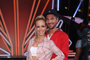 """Benjamin Piwko and Isabel Edvardsson pose on stage during the 4th show of the 12th season of the television competition """"Let's Dance"""" on April 12, 2019 in Cologne, Germany."""
