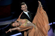 Sonja Kirchberger and Vadim Garbuzov perform on stage during the 4th show of the television competition 'Let's Dance' at Coloneum on April 8, 2016 in Cologne, Germany.