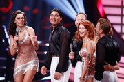 Willi Gabalier, Tanja Szewczenko, Erich Klann, Lilly Becker, Alexander Leipolt and Oana Nechiti seen on stage during the 5th show of 'Let's Dance' on RTL at Coloneum on May 2, 2014 in Cologne, Germany.