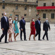 Letizia of Spain Spanish Royal Family Attends A National Offering To The Apostle Santiago