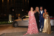 Diana Del Bufalo, Tiziana Rocca, Paola Minaccioni and Paolo Ruffini attend the Filming In Italy After Party Arrivals on a Lexus car during the 76th Venice Film Festival at Hotel Hungaria on September 01, 2019 in Venice, Italy.