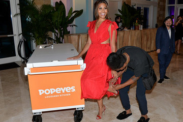 Leyna Bloom Damian Bao Popeyes Nuggets Activation At Sports Illustrated Swimsuit Party