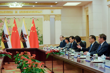 Li Keqiang The Sultan of Brunei, Hassanal Bolkiah Visits China