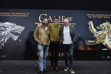 Liam Cunningham Isaac Hempstead Wright Game Of Thrones: The Touring Exhibtion - Press Conference