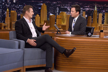 Liam Neeson Liam Neeson Visits 'The Tonight Show'