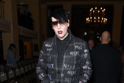 Marilyn Manson attends the Libertine Fall 2019 Runway Show at Ebell of Los Angeles on April 26, 2019 in Los Angeles, California.
