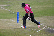 Jacques Kallis of Libra Legends scrambles to avoid being run out during the opening match of the Oxigen Masters Champions League 2016 between Libra Legends and Gemini Arabians on January 28, 2016 in Dubai, United Arab Emirates.