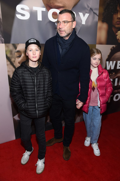 """""""West Side Story"""" Broadway Opening Night [west side story,red carpet,premiere,event,carpet,flooring,outerwear,fictional character,performance,liev schreiber,c,new york city,broadway theatre,broadway opening night,red carpet,celebrity,socialite,fashion,facial hair,carpet,hair,outerwear,red]"""