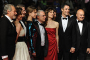 "(Left to Right) Actors Giorgio Colangeli, actress Isabella Ragonese, actor Marius Ignat, actress Alina Berzenteanu, director Daniele Luchetti, actress Stefania Montorsi and actors Raoul Bova and Luca Zingaretti attend the ""Our Life"" Premiere at the Palais des Festivals during the 63rd Annual Cannes Film Festival on May 20, 2010 in Cannes, France."