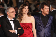"Director Daniele Luchetti, actress Stefania Montorsi and actor Elio Germano attends the ""Our Life"" Premiere at the Palais des Festivals during the 63rd Annual Cannes Film Festival on May 20, 2010 in Cannes, France."