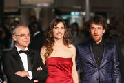 "Director Daniele Luchetti, Stefania Montorsi and Elio Germano attend the ""Our Life"" Premiere at the Palais des Festivals during the 63rd Annual Cannes Film Festival on May 20, 2010 in Cannes, France."