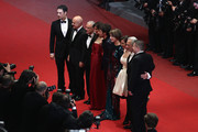 "Actors Giorgio Colangeli, actress Isabella Ragonese, actress Alina Berzenteanu,actor Elio Germano ,director Daniele Luchetti, actress Stefania Montorsi and actors Raoul Bova and Luca Zingaretti attend the ""Our Life"" Premiere at the Palais des Festivals during the 63rd Annual Cannes Film Festival on May 20, 2010 in Cannes, France."