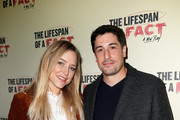 Jenny Mollen and Jason Biggs attend 'The Lifespan of a Fact' opening night at Studio 54 on October 18, 2018 in New York City.