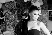 Image has been converted to black and white.)  Alyssa Milano attends Lifetime's Summer Luau at W Los Angeles - Westwood on May 20, 2019 in Los Angeles, California.