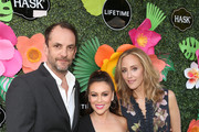 (L-R) Manu Boyer, Alyssa Milano and Kim Raver attend the Lifetime Summer Luau on May 20, 2019 in Los Angeles, California.
