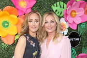 Kim Raver and Elisabeth Rohm attend the Lifetime Summer Luau on May 20, 2019 in Los Angeles, California.