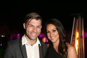 Liam McIntyre and Kelen Coleman attend the Lifetime Summer Luau on May 20, 2019 in Los Angeles, California.