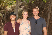 (L-R) Actors Alex Hernandez, Caitlin Fitzgerald and Adam Demos attend Lifetime's UnREAL Cast and Producers Kickoff Summer Group Date at Malibu Wines Safari on June 4, 2017 in Malibu, California.