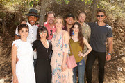 (L-R) Actors Shiri Appleby, Jeffrey Bowyer-Chapman, Constance Zimmer, Brennan Elliott, Caitlin Fitzgerald, Alex Hernandez, Genevieve Buechner, Josh Kelly and Adam Demos attend Lifetime's UnREAL Cast and Producers Kickoff Summer Group Date at Malibu Wines Safari on June 4, 2017 in Malibu, California.