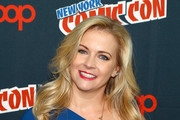 """Melissa Joan Hart attends the Lifetime's """"The Watcher In The Woods"""" Panel With Melissa Joan Hart And Paula Hart At New York Comic Con 2017 on October 5, 2017 in New York City."""