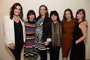 (L-R) Producer Stacy Rukeyser, actress Constance Zimmer, writer Sarah Gertrude Shapiro, director Holly Dale, actress Caroline Dhavernas, and writer Tara Armstrong attend Lifetime's Emmy FYC Event at Wolf Theatre on May 16, 2017 in North Hollywood, California.