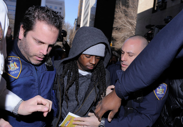 Lil+Wayne in Lil Wayne Arrives In Court For Weapon Charges